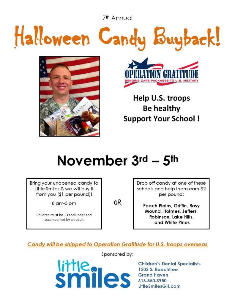 The Halloween Candy Buyback Returns!