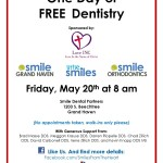 Free Dental Care Returns May 20th
